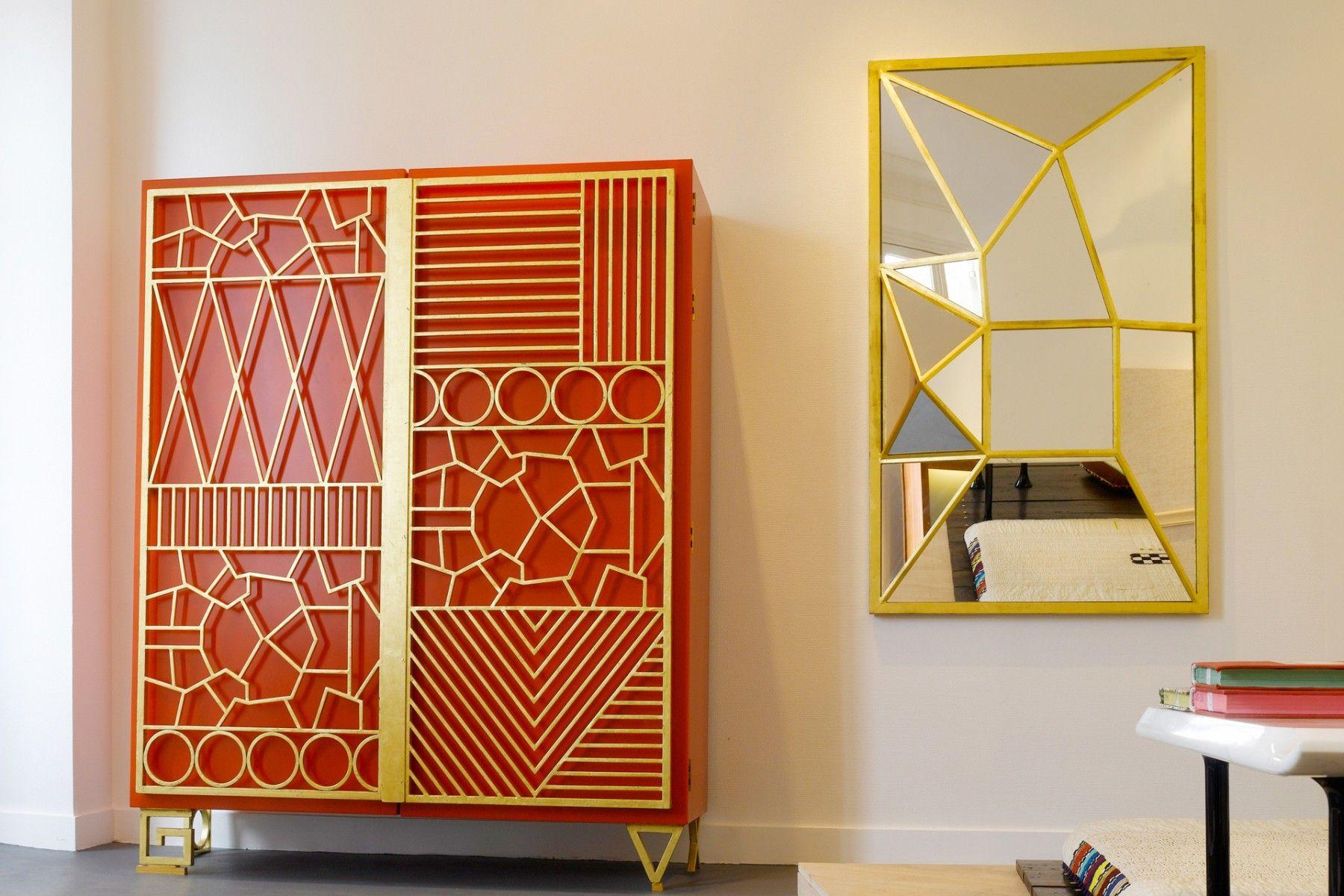 Geometric Cabinet By Elizabeth Garouste Singular And Exquisitely Crafted Geometric Cabinet Is Classic Garouste Art Deco Interior Deco Decor Art Deco Decor