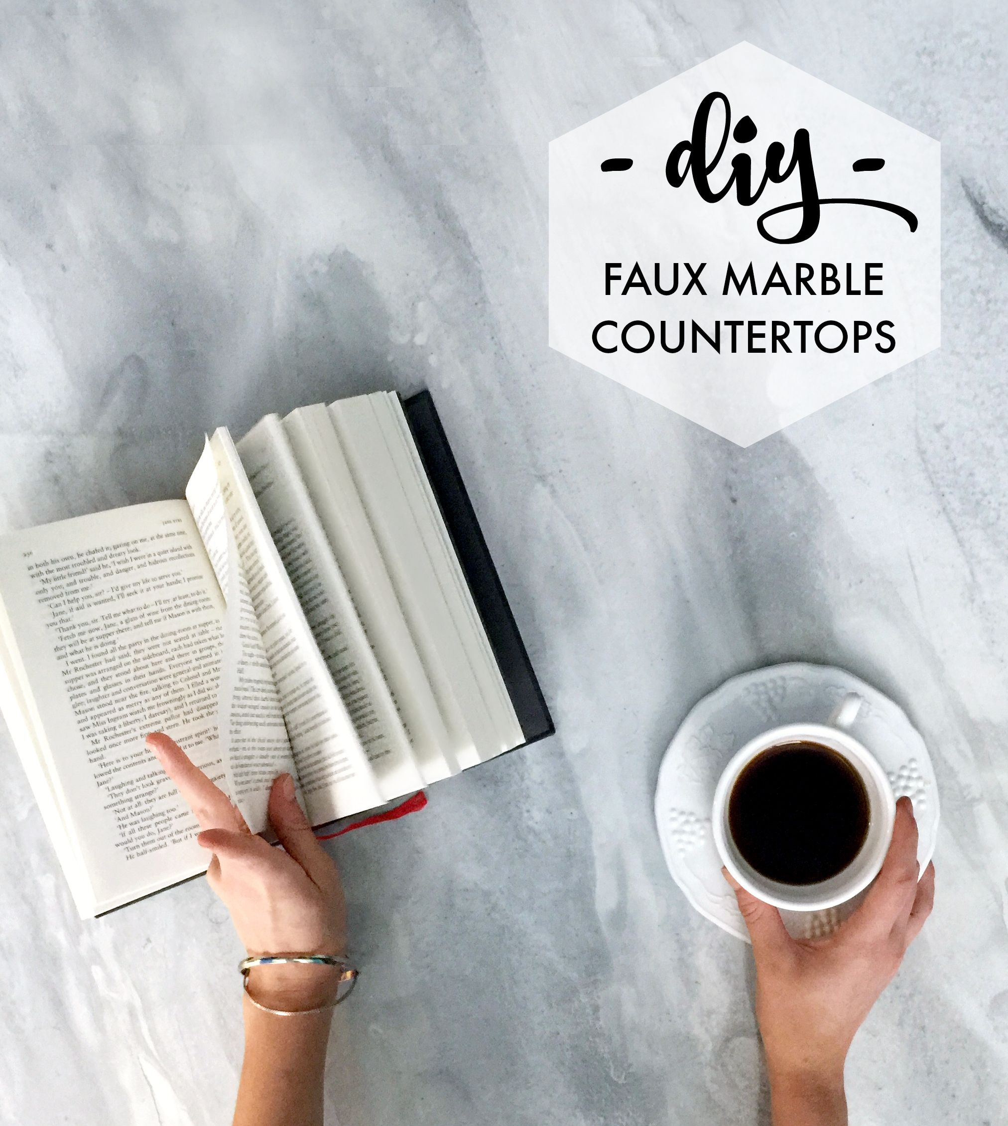 Easy And Affordable DIY Marble! Transform Any Desktop