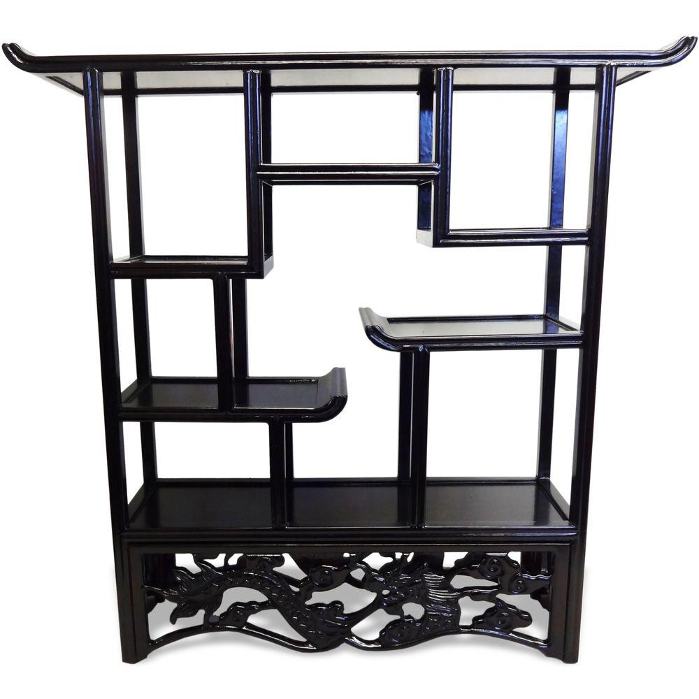 Overstock Com Tips Ideas: Dark Brown Open Tabletop Curio Display Cabinet