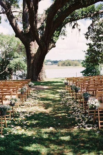 petal-lined aisle | Loren Routhier #wedding