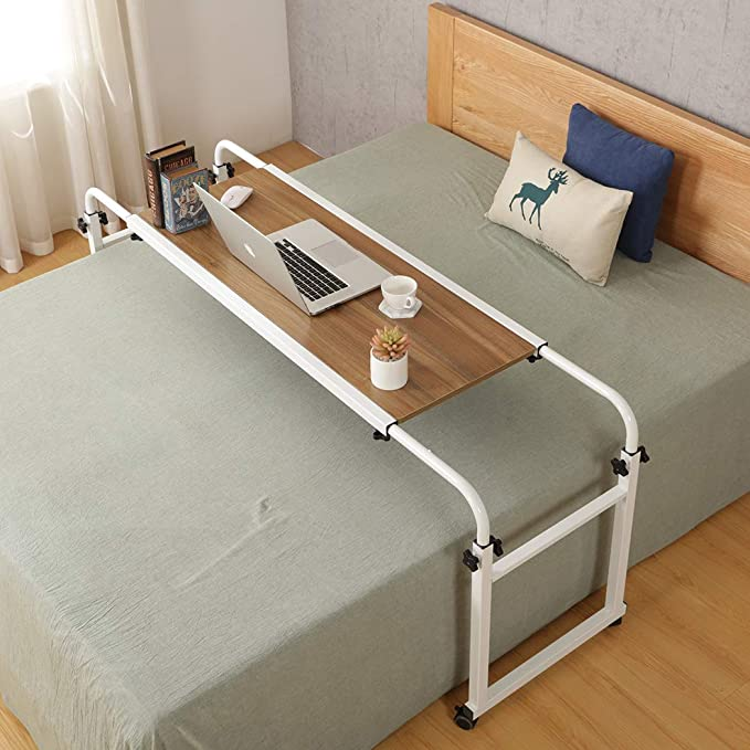 Overbed Table With Wheels Desk, Overbed Table Queen Bed