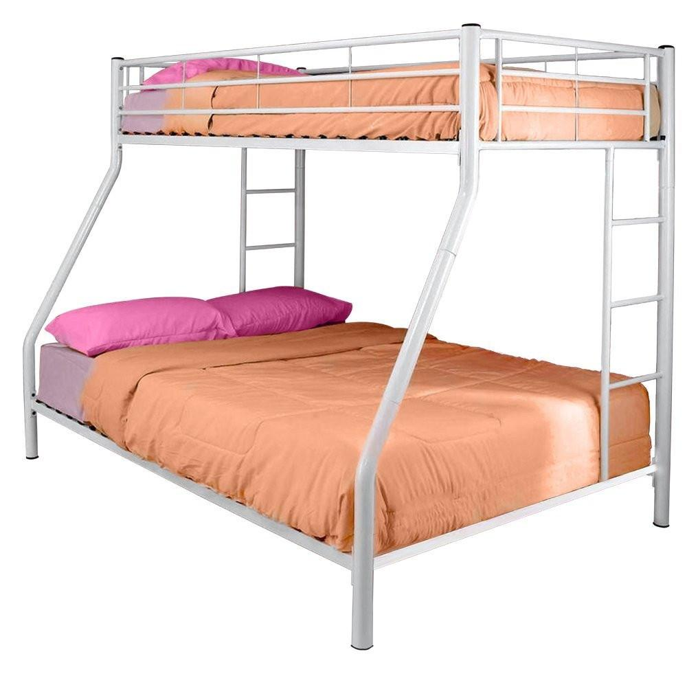 Twin over full loft bed with stairs  White Metal Twin Over Full Bunk Bed  New Products  Pinterest