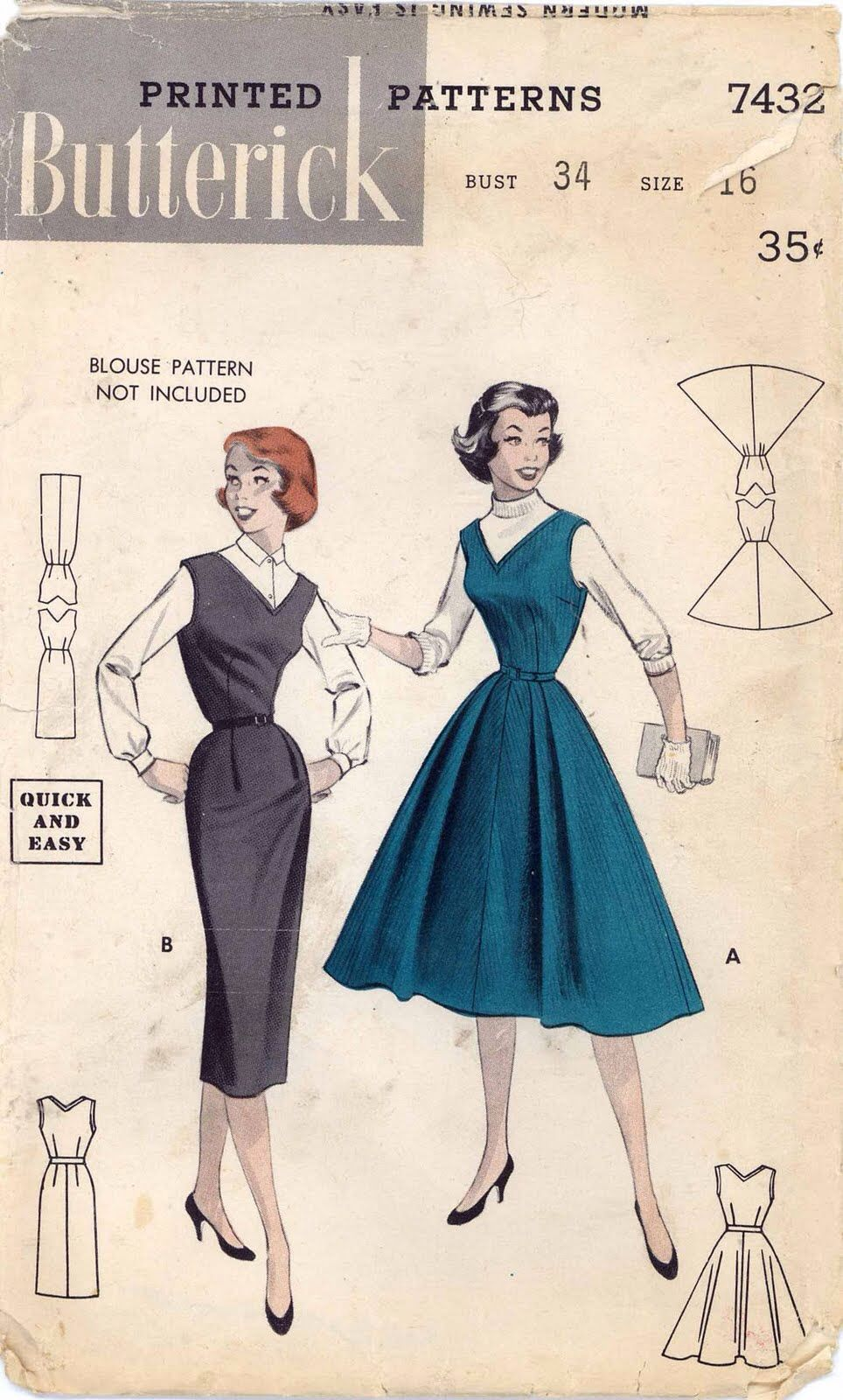 Butterick pattern | Back in the day | Pinterest | Costura, Vestidos ...