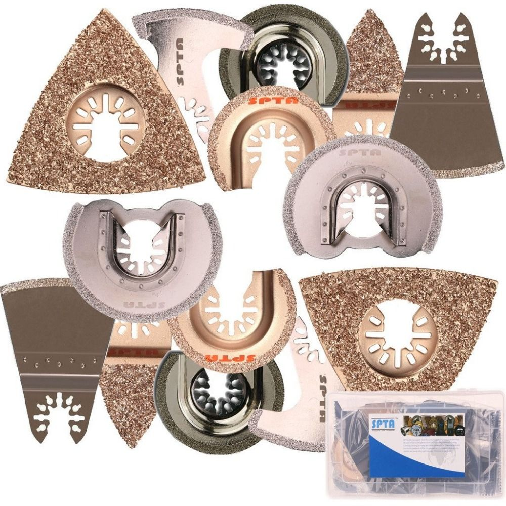 SPTA 14Pcs Tile Carbide & Diamond Saw Blade Oscillating