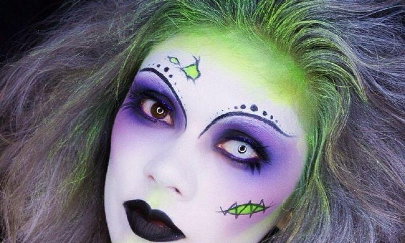 kunstvolle halloween schminke frisuren pinterest halloween halloween makeup und kost m. Black Bedroom Furniture Sets. Home Design Ideas