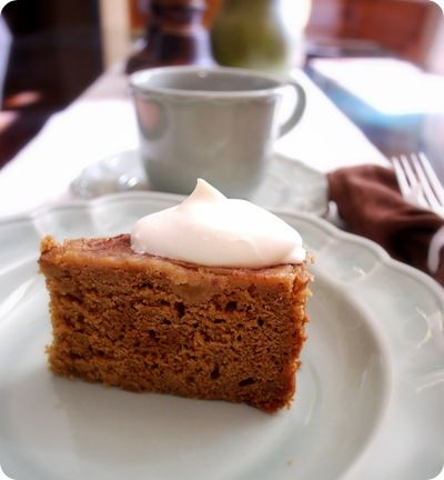 spiced pear cake! yum! I'll have to create my own version dairy-wheat-gluten free...but it's worth figuring out!