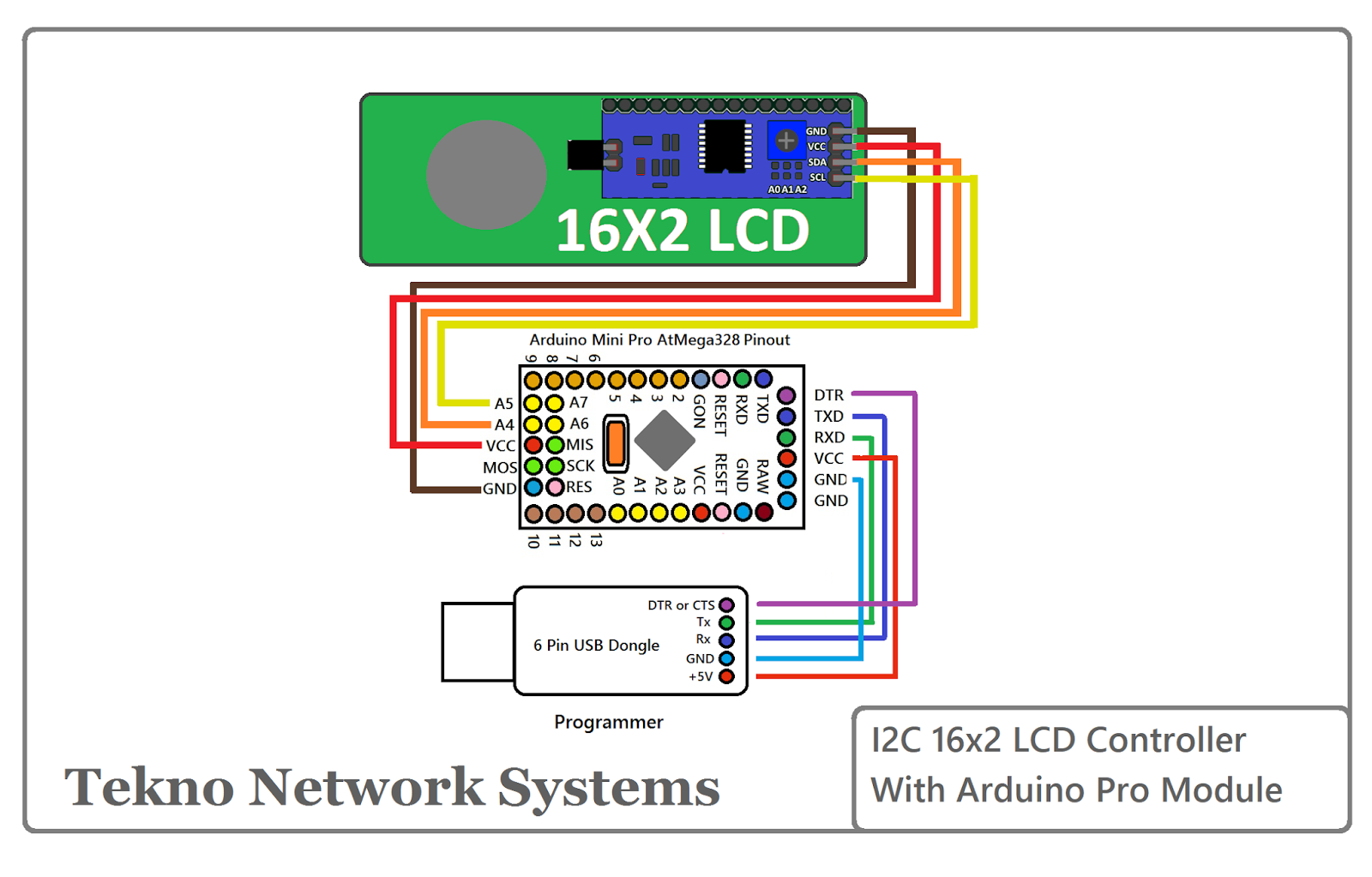 Arduino mini Pro I2C 16x2 LCD | Arduino | Arduino