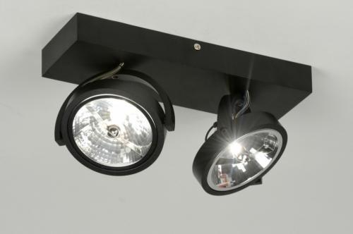 Foto 1 bij design aluminium zwarte plafondspots spots v woonkamer ...