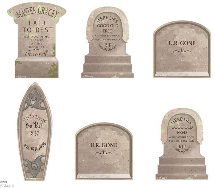 Printable Haunted Mansion Tombstone Templates