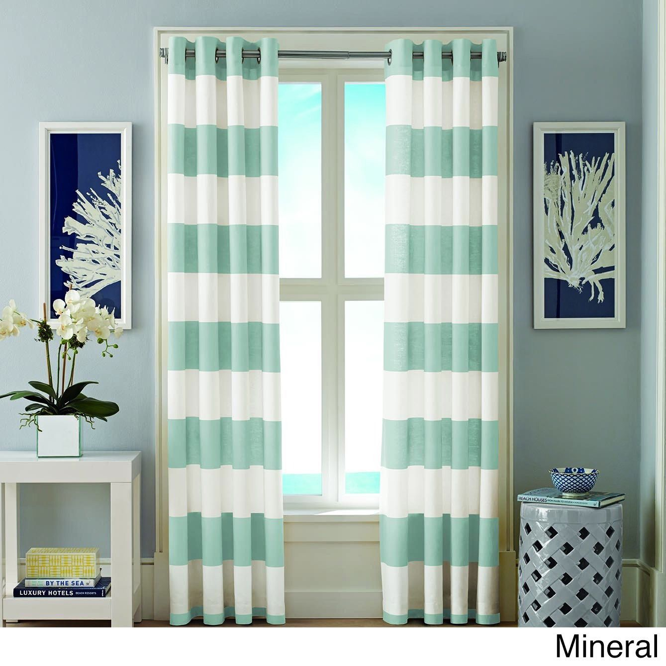Luxury window coverings  nautica cabana inch grommet top curtain panel pair  products