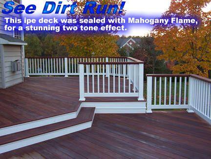 Image From Http Www Seedirtrun Com Gallery Data 504 1ipe2toneflame Jpg Deck Designs Backyard Deck Colors Staining Deck