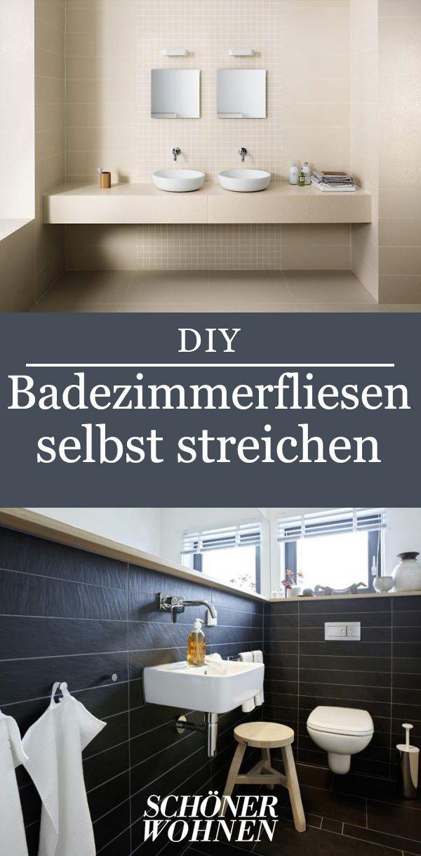 fliesen streichen in küche  bad  badezimmer streichen