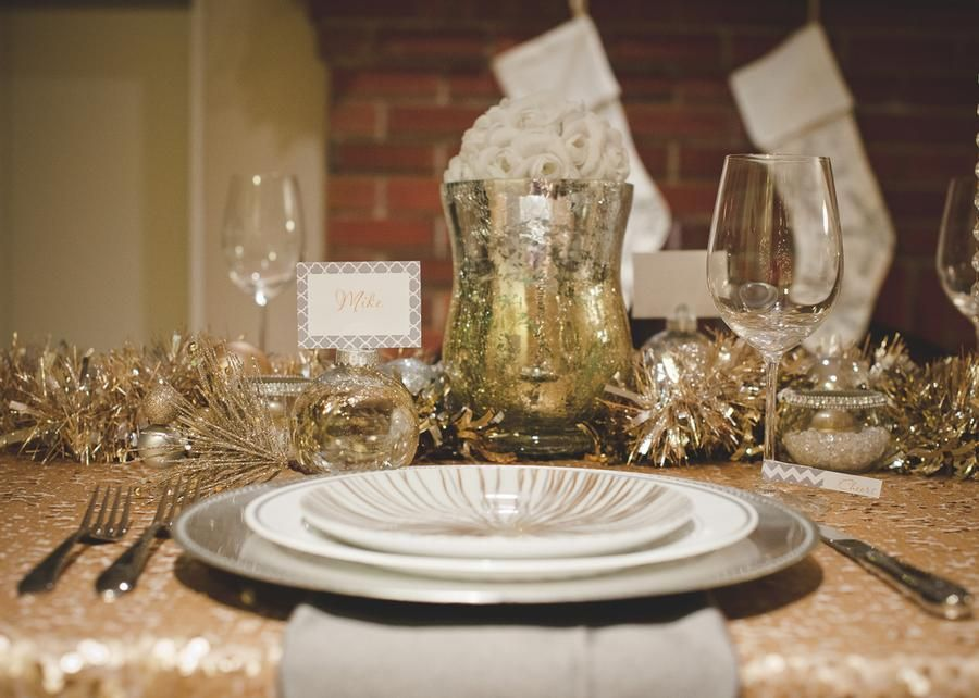 Winter Wonderland table setting. | Holiday tables, New ...