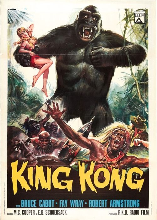 Italian 1960 8217 S Re Release Poster King Kong Movie King