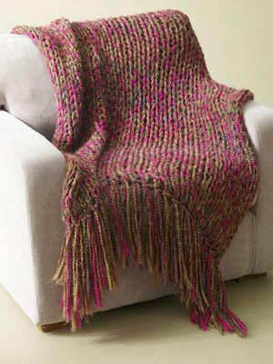 Free Knitting Pattern 60536 6 Hour Throw Lion Brand Yarn Company