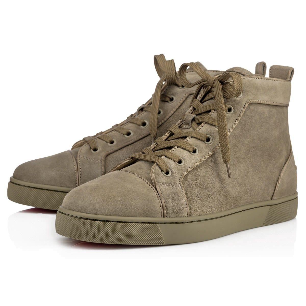 Louis Orlato Flat Poivre Vert Suede - Men Shoes - Christian Louboutin