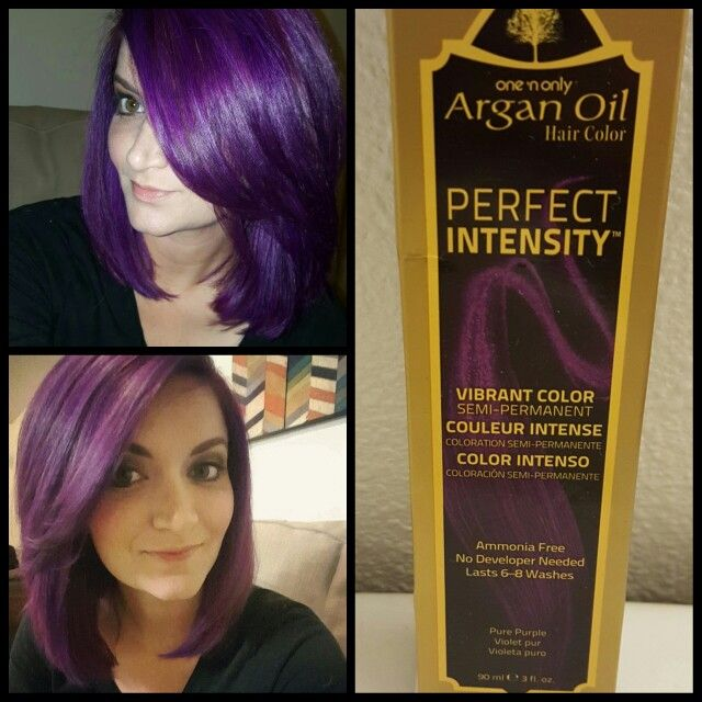 Vivid Purple Hair Medium Length Argan Oil Perfect Intensity Pure Purple Medium Length Hair Styles Argan Oil Hair Color Medium Hair Styles