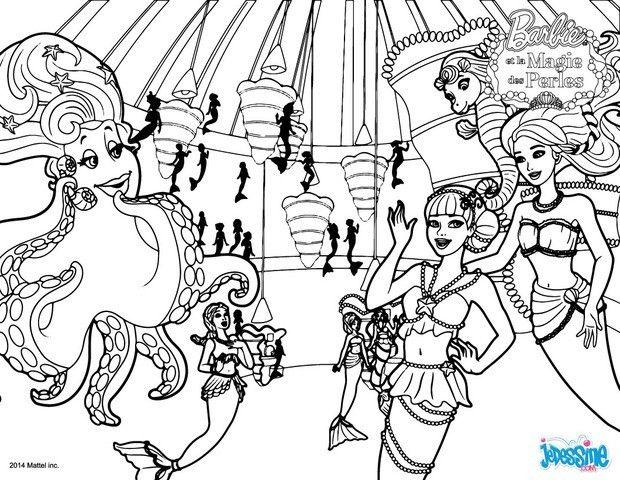 Un Joli Coloriage Barbie Et La Magie Des Perles Rendez Vous Dans