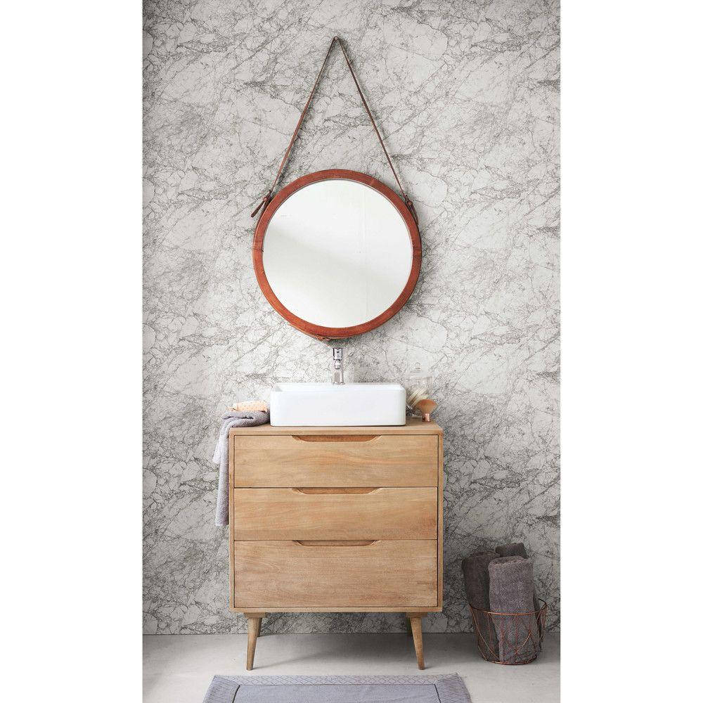 Mobili Da Bagno Maison Du Monde.Solid Mango Wood Single Sink 2 Drawer Bathroom Vanity Wood