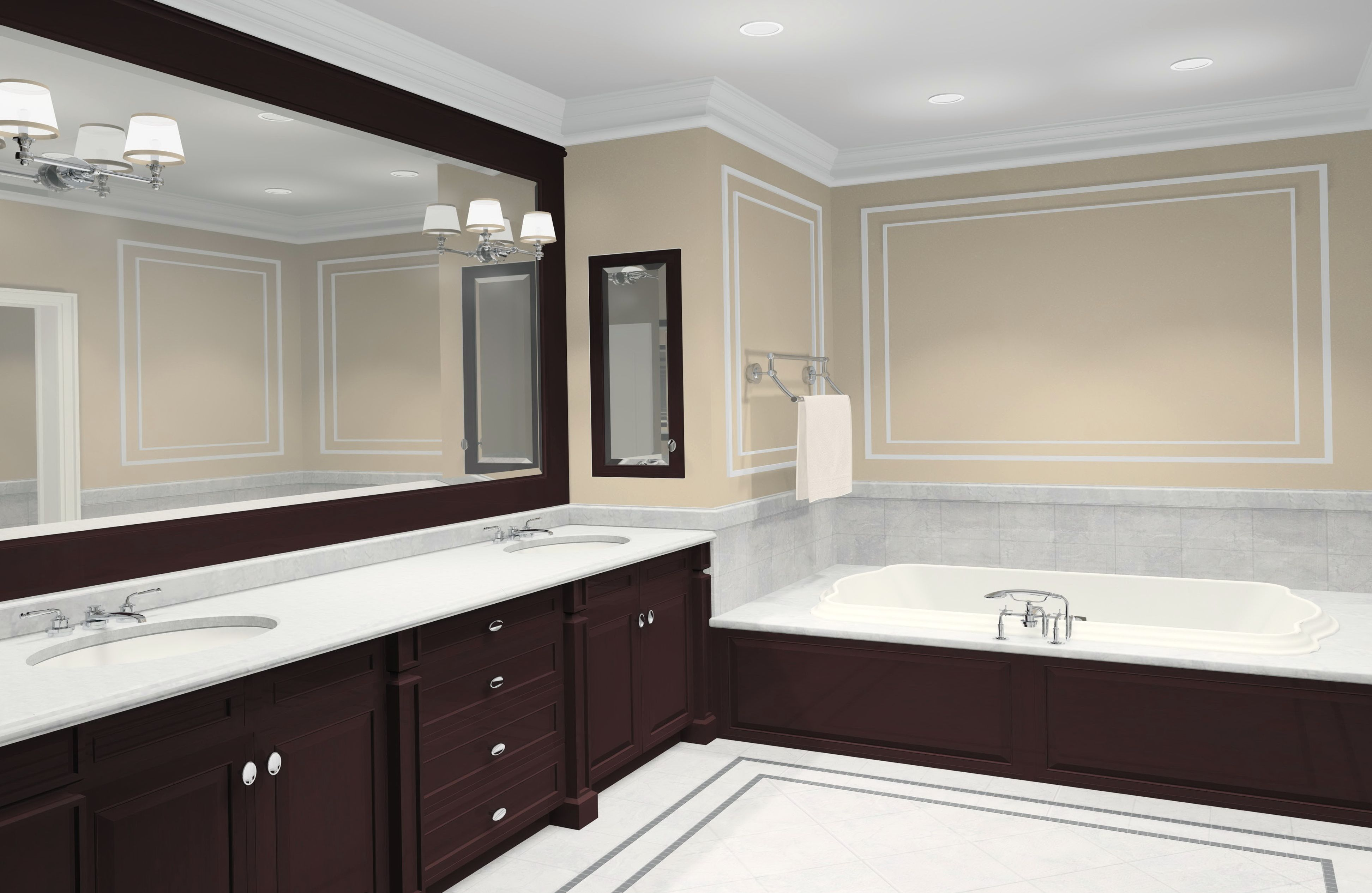 Elegant Big Bathroom Mirror Ideas Home And Interior Design