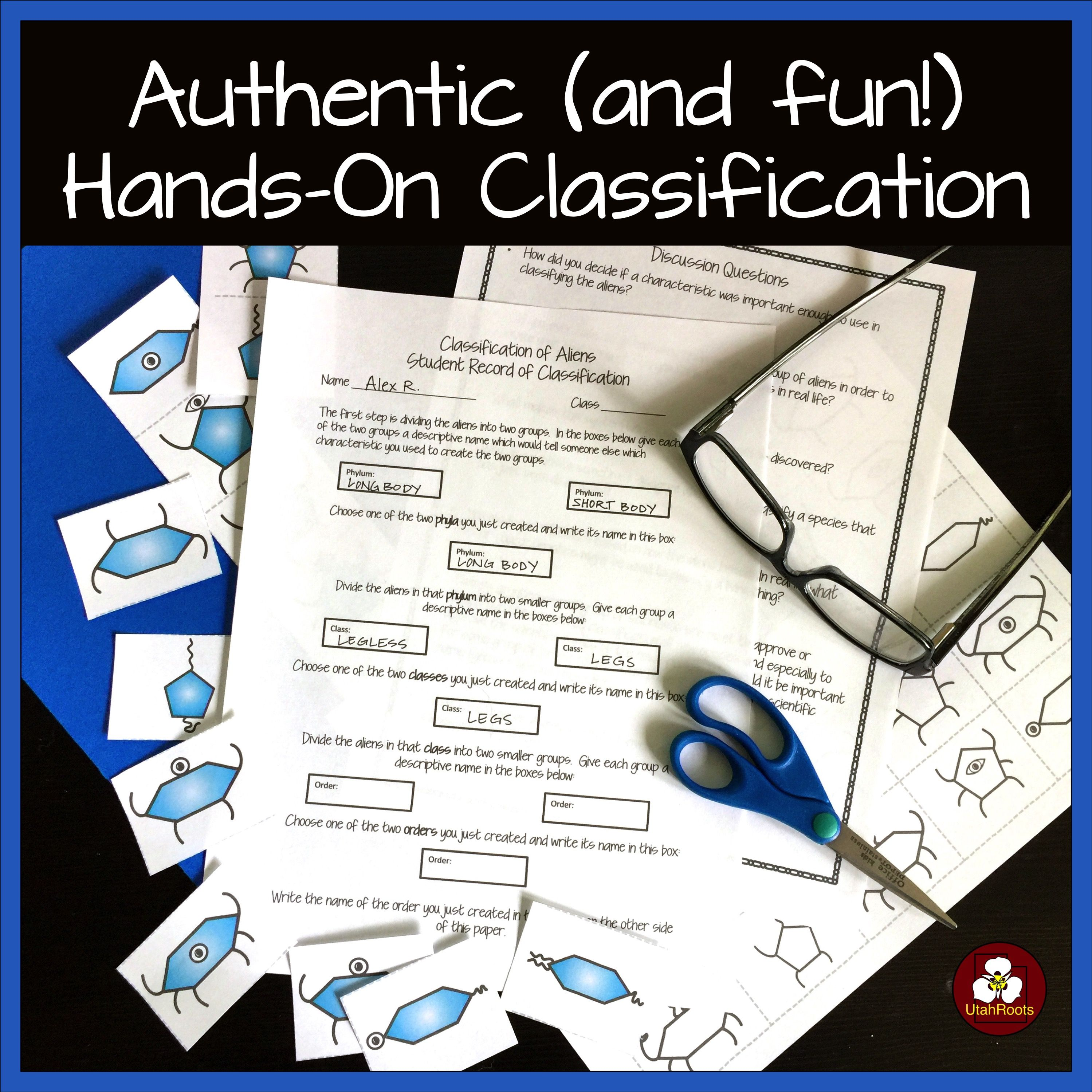 Classification Of Living Things Hands On Activity