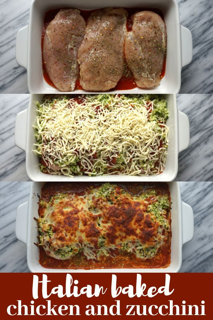 Italian Baked Chicken and Zucchini images