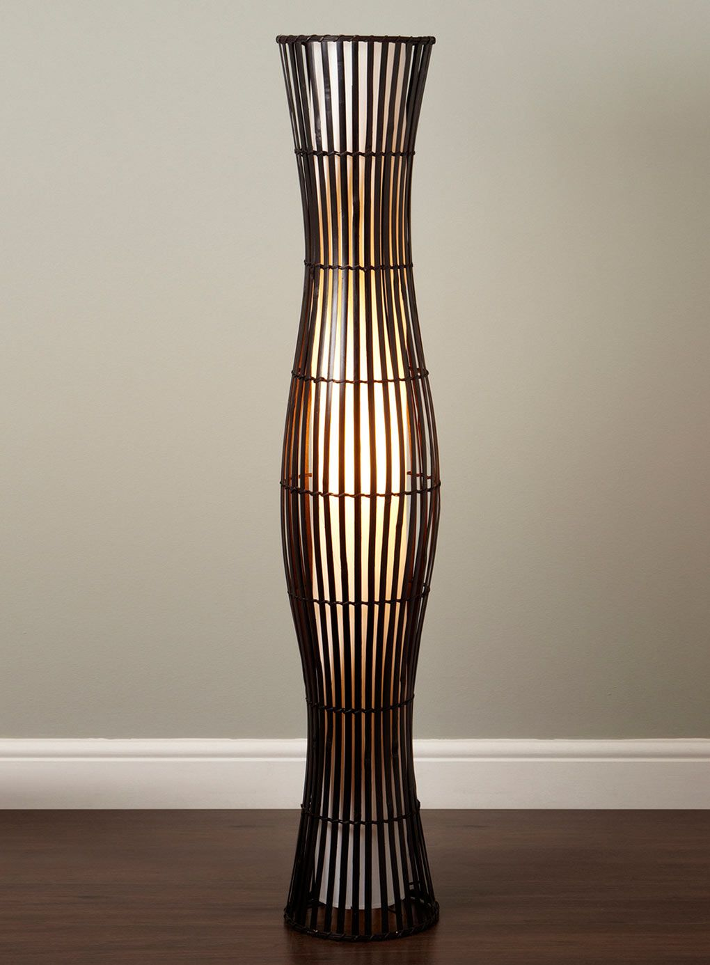 Floor Lamps | Waisted Wicker Floor Lamp   Floor Lamps   Lighting   BHS