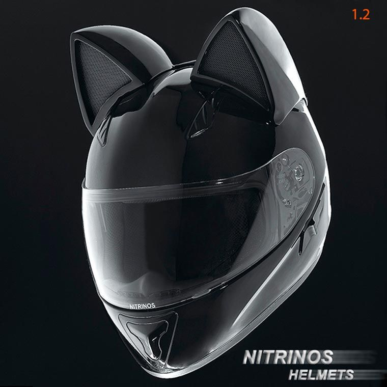 Neko Helmet Des Casques De Moto Adorables Avec Des Oreilles De