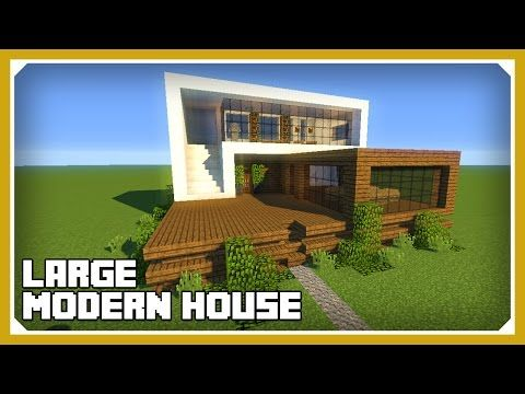 Minecraft How To Build A Large Modern House Tutorial Easy
