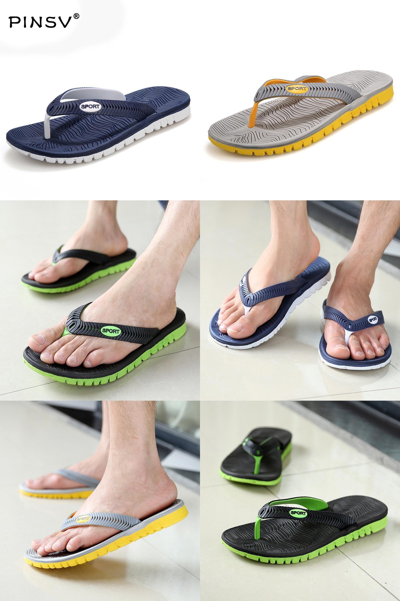 [Visit to Buy] New Summer shoes Men Flats Sandals Hot Sandalias hombre Beach Flip Flops Men's Sandals Beach Slippers Shoes For Men 40-45 #Advertisement