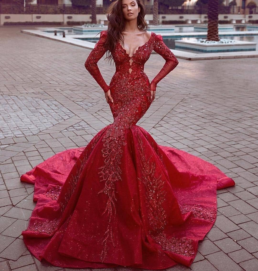 17++ Red long sleeve formal dress ideas in 2021