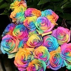 Como fazer flores arco-íris