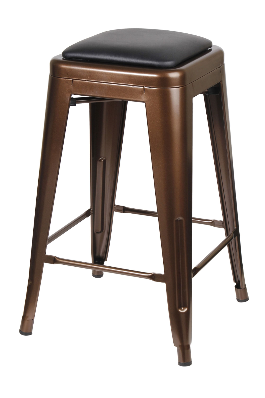 24 Coffee Metal Bar Stool Industrial Kitchen Dining Counter Stool Pu Leather Ebay Metal Bar Stools Bar Stools Counter Height Bar Stools