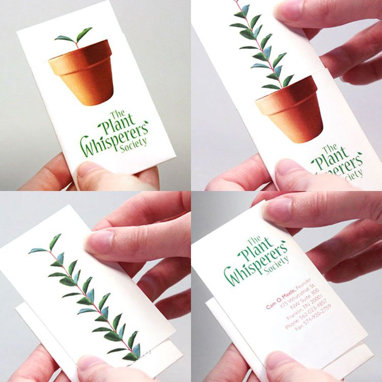 20 Creative Business Card Designs | Growing plants, Business cards ...