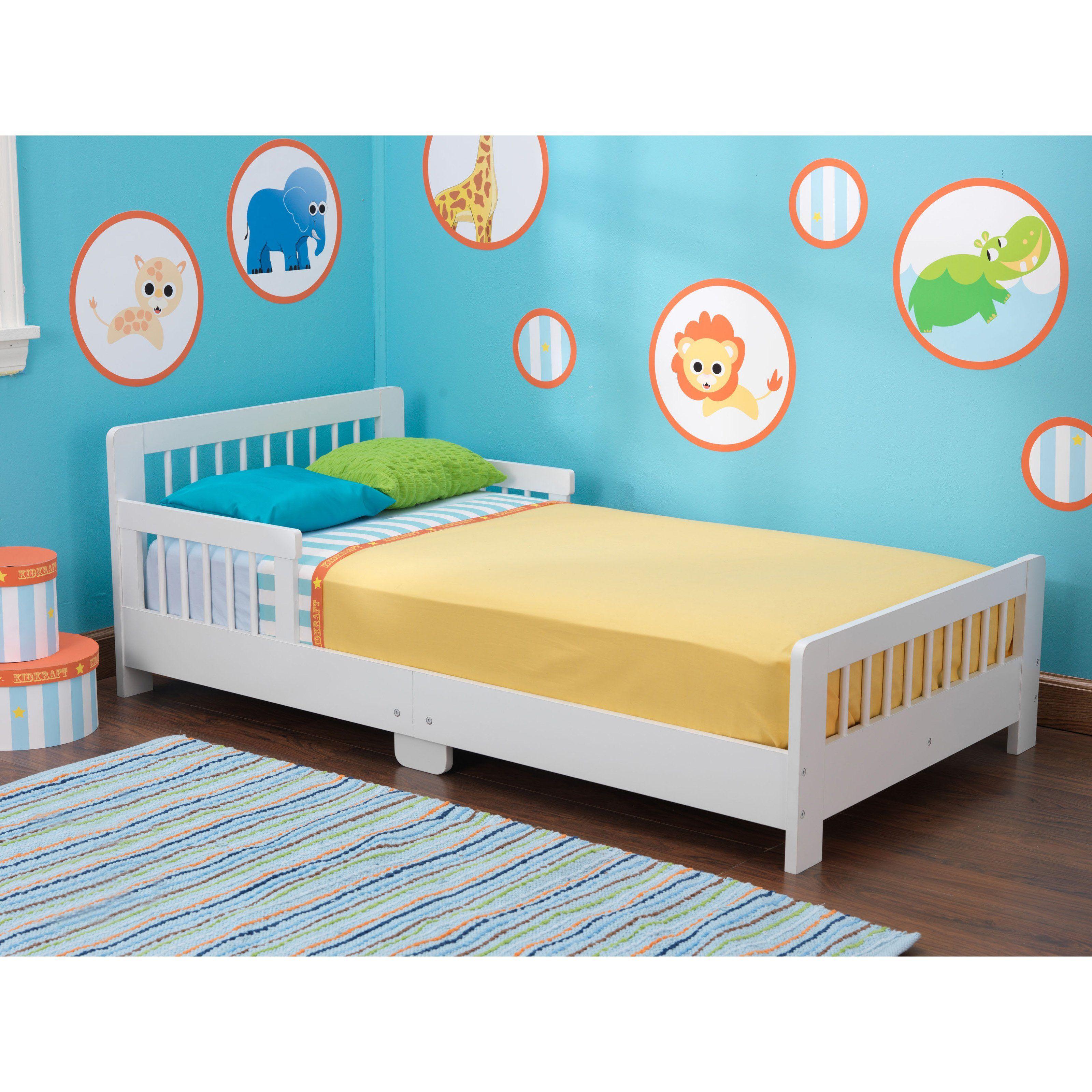 Kidkraft Slatted Toddler Bed White 109 99 Kid Beds White Toddler Bed Toddler Bed