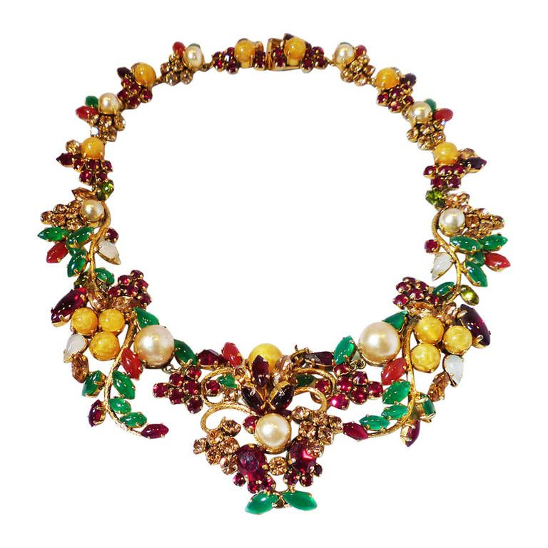 RARE Couture Vintage Christian Dior Germany 1962 Necklace a Museum