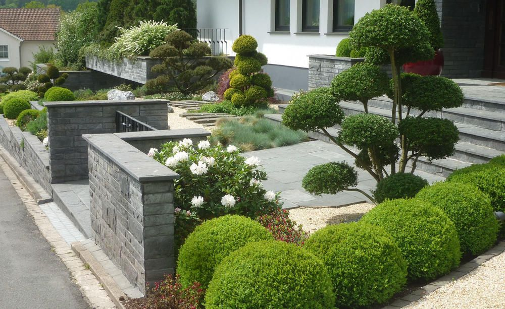 Formschnitt So Gelingen Grune Skulpturen Garten Ideen Gestaltung Vorgarten Vorgarten Vorgarten Ideen