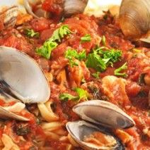 Linguine with Red Clam Sauce - @Michelle Moricone