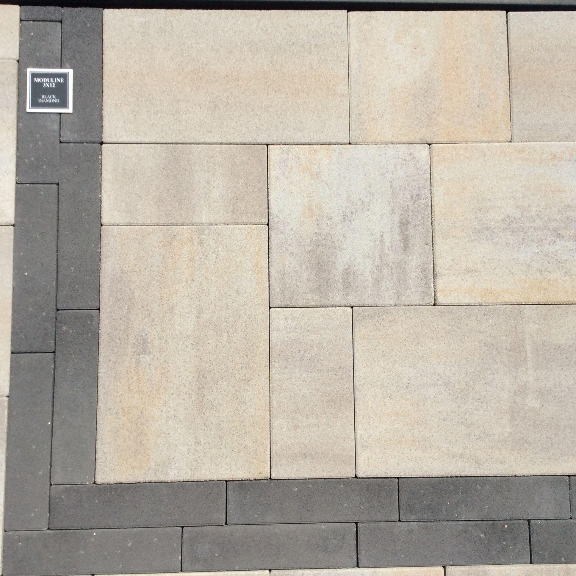 Belgard moduline paver in Danville Beige using all three