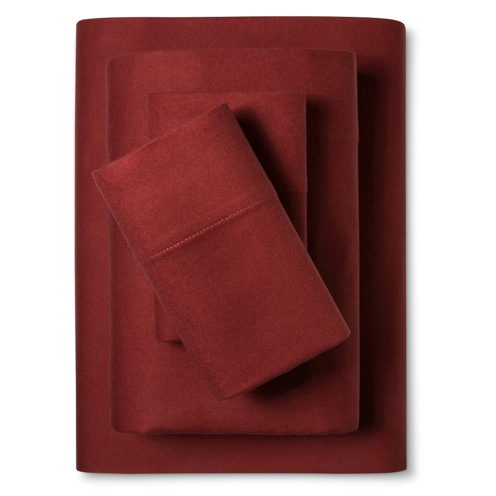 Red flannel sheets  Flannel Sheet Set Twin Heathered Blue  Threshold  Flannels and