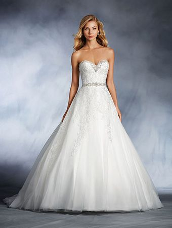 Lovely View Dress DISNEY ALFRED ANGELO COLLECTION Cinderella us Disney Wedding Dress with Embroidered Lace