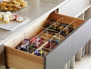 An Easy Fix For That Messy Drawer! Hostess With Acrylic Snack Drawer  Dividers. Pictures