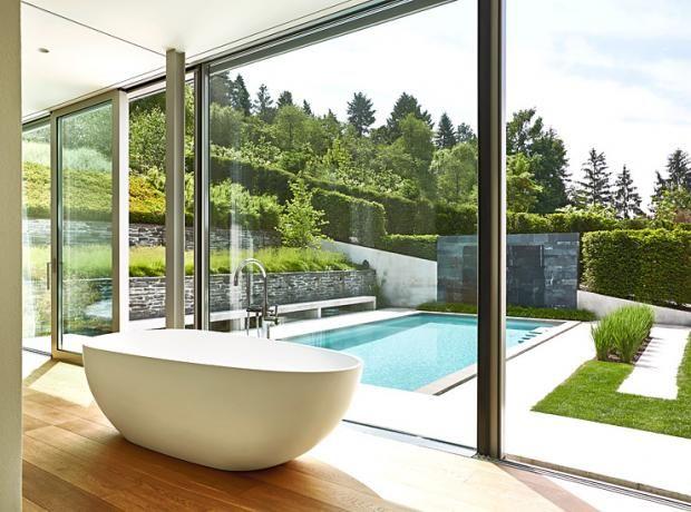 Badezimmer mit Gartenblick Pins Gardasee Pinterest Feng shui