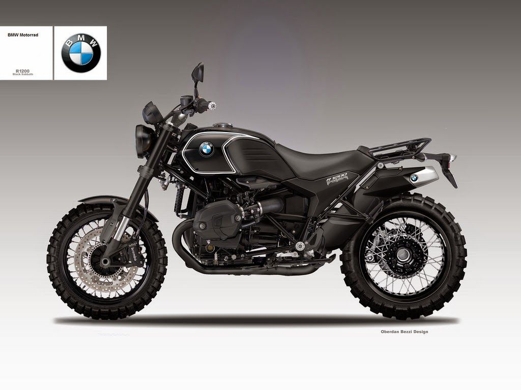 Bmw R 1200 Scrambler Als Dusterversion Black Sabbath Bmw