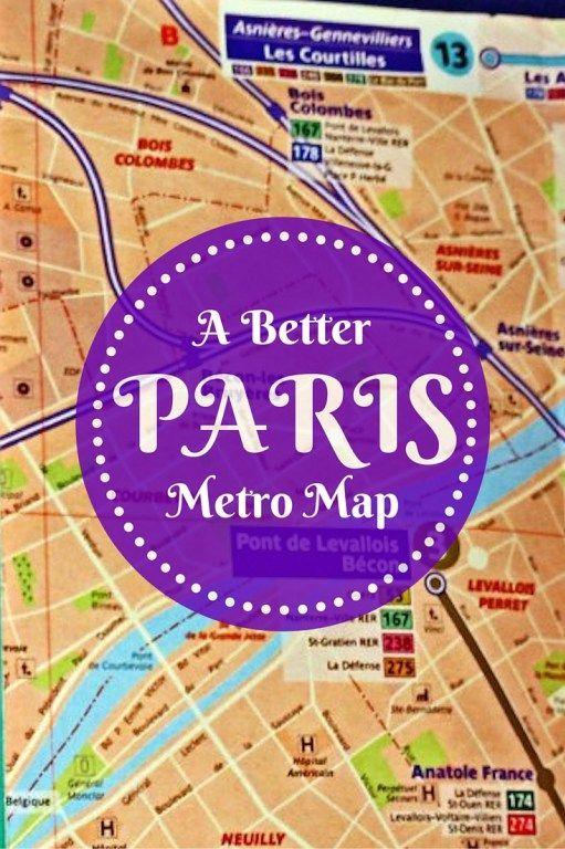 A Better Paris Metro Map Travel Shares Pinterest Paris Metro