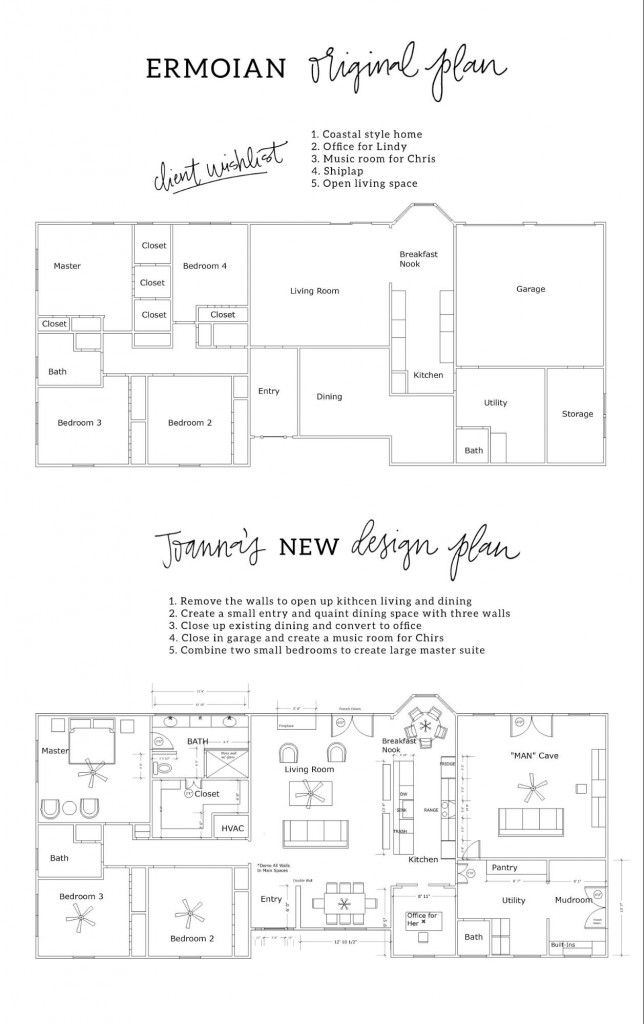 Fixer Upper Season 3 Episode 13 The Green Mile House Fixer Upper House House Plans Floor Plan Layout