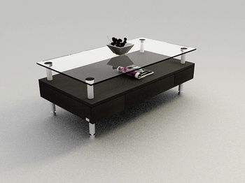 Fashion Black Glass Table