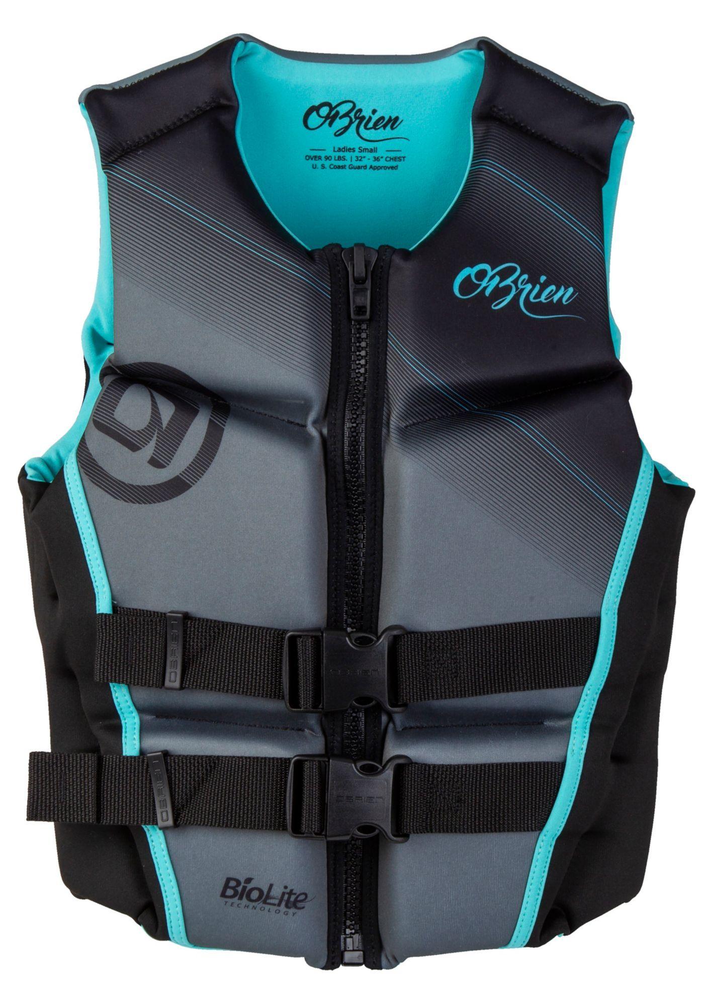 O Brien Women S Flex V Back Life Vest In 2020 Life Vest Swimming Equipment Vest
