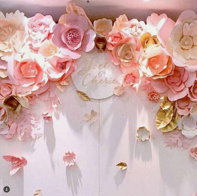 Wedding Diy Backdrop Giant Paper Flowers Paper Flower Backdrop