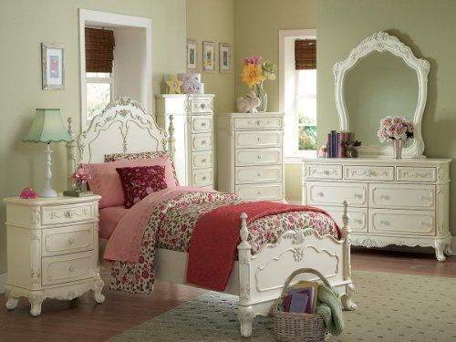 Cinderella 4 PC Queen Bedroom Set by Home Elegance in Off-White